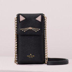 kate spade north south cat crossbody bag purse nwo